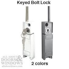Sliding Patio Door Security Locks Sliding Patio Door Bolt Lock Keyed White Or