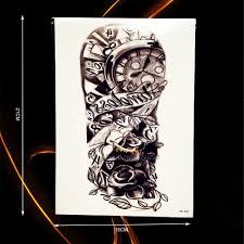 roses arm sleeve tattoo arm sleeve tattoos for men online shopping the world largest arm