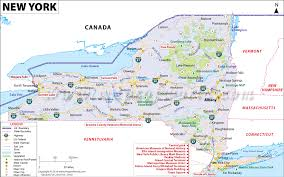 und cus map york map map of york state ny map