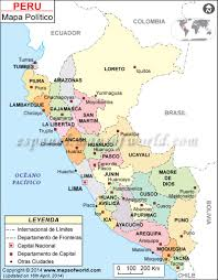Lima Map Mapa Politico Del Peru Lugares Para Visitar Pinterest