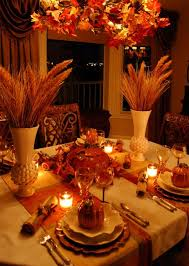 beautiful wheat centerpiece with pumpkin tureens table
