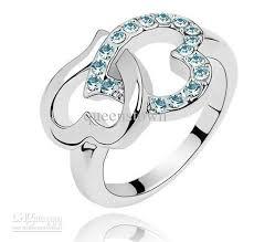 rings love heart images 2018 new diamond heart ring korean full rhinestones love heart jpg