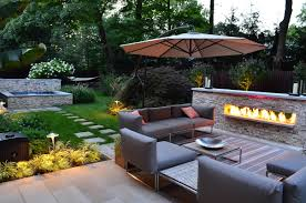 cozy sitting area with outdoor fireplace pictures photos and