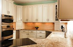 granite countertop white kitchen cabinets photos refrigerator