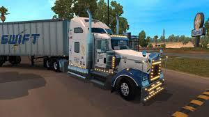 kenworth show trucks swift transportation kenworth w900 skin updated mod american