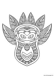african mask 6 coloring pages printable