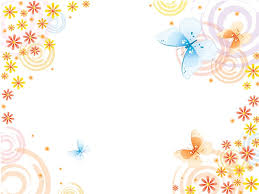 butterflies with pink flowers powerpoint templates flowers