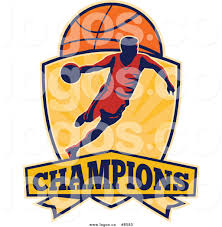 royalty free clip art vector logo of a basketball player athlete