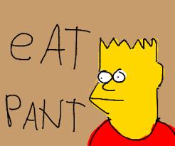 Bart Simpson Meme - pant bart simpson meme