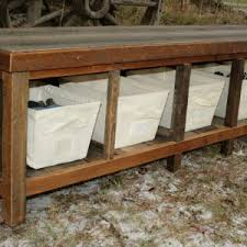 Rustic Storage Bench Living Room Benches Design And Ideas Pics With Charming Rustic