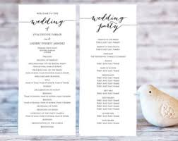 program for wedding ceremony template wedding program templates ceremony program template two