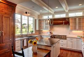 Over Kitchen Sink Light by Over Kitchen Sink Traditional With Recessed Lighting Wooden