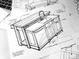 kitchen design sketch sketching interior design modern concept