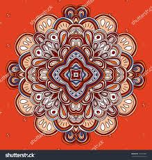 symmetrical design tribal art rangoli rural symmetrical design