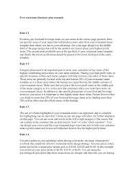 doc 680776 restaurant business plan template u2013 restaurant