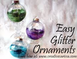 how to make glitter bulb ornaments pictures photos and images