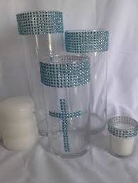Centerpieces For Baptism For A Boy by Pretty Diy Baptism Candle Centerpiece Baptism Favors Pinterest