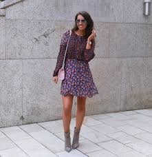 dresses with boots floral dress grey ankle boots nuala gorham