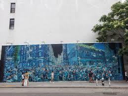 looking at logan hicks final product at the bowery graffiti wall slideshow