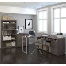 Grey L Shaped Desk by Solay L Shaped Desk Lateral File And 36