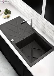 modern kitchen sink design modern black kitchen sink something something pinterest