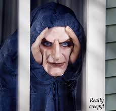 peeping tom evil clown zombie prop horror stalker window prank