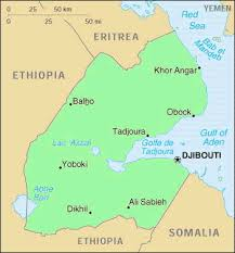 africa map with country names and capitals country facts djibouti