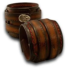 leather wrist bracelet images Handmade leather cuff wristbands wide cuffs by rockstar jpg