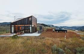 modern prefab cabin modern prefab vacation home in washington facade with steel