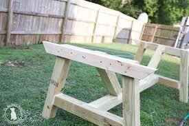 Build Your Own Patio Table How To Build An Outdoor Farmhouse Table The Handmade Home