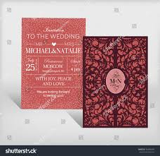 How To Design Wedding Invitation Cards Curved Wedding Invitation Card Stock Vector 384280204 Shutterstock