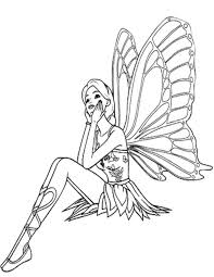 fairy coloring pages simply simple printable coloring pages