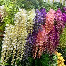 Decorative Garlands Home Compare Prices On Silk Wisteria Garland Online Shopping Buy Low