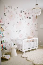 best 25 whimsical nursery ideas on pinterest nursery wallpaper floral wallpaper in a baby girl nursery yes we love this jolie wallpaper from