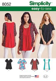 simplicity 8052 misses easy to sew tops