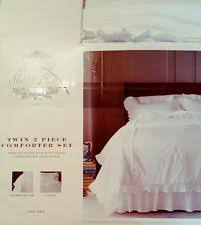 Shabby Chic White Comforter Simply Shabby Chic Heirloom White 2pc Twin Comforter Set Ebay