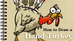 turkey drawings thanksgiving how to draw a hand turkey thanksgiving sketch youtube