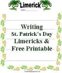 st patricks day activity for all ages write limericks holidays