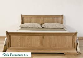 Oak Sleigh Bed American White Oak 6 King Bed Oak Furniture Uk