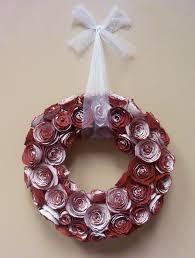 antiqued paper rose valentine wreath