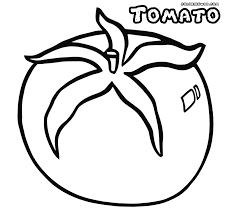tomato coloring page printable of tomato coloring pages 20919