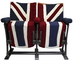 Union Jack Dining Chair Vintage Cinema Seats In Union Jack Knit By Melanie Porter