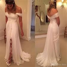 Off The Shoulder Wedding Dresses Off The Shoulder Beach Wedding Dresses 2017 Cheap Split Ivory