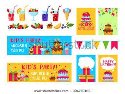 happy birthday template card flat vector stock vector 386725378