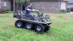 amphibious vehicle for sale hoot 6x6 amphibious atv with adair tracks 1st run youtube