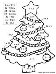 multiplication christmas worksheets best 25 math coloring