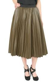 pleated skirt j o a pleather pleated skirt shoptiques