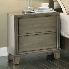 Gray Nightstands Furniture Of America Tarpa Collection 2 Drawer Nightstand