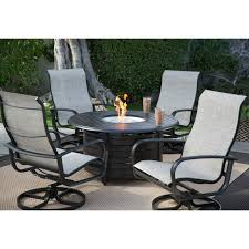 Winston Patio Furniture Cushions by Belham Living Winston Savoy Aluminum Sling Fire Pit Chat Set
