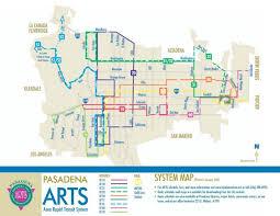 pasadena ca map pasadena arts area rapid transit system map pasadena california